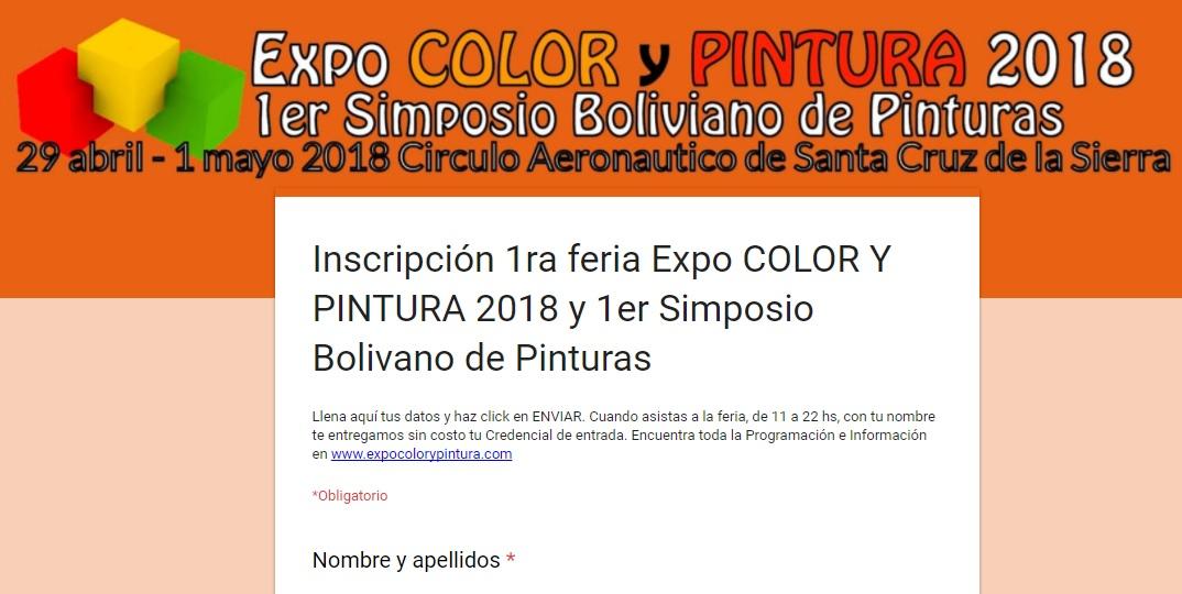 Costo del Evento – Expo COLOR y PINTURA
