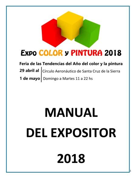 MANUAL DEL EXPOSITORExpoColorPintura2018-1