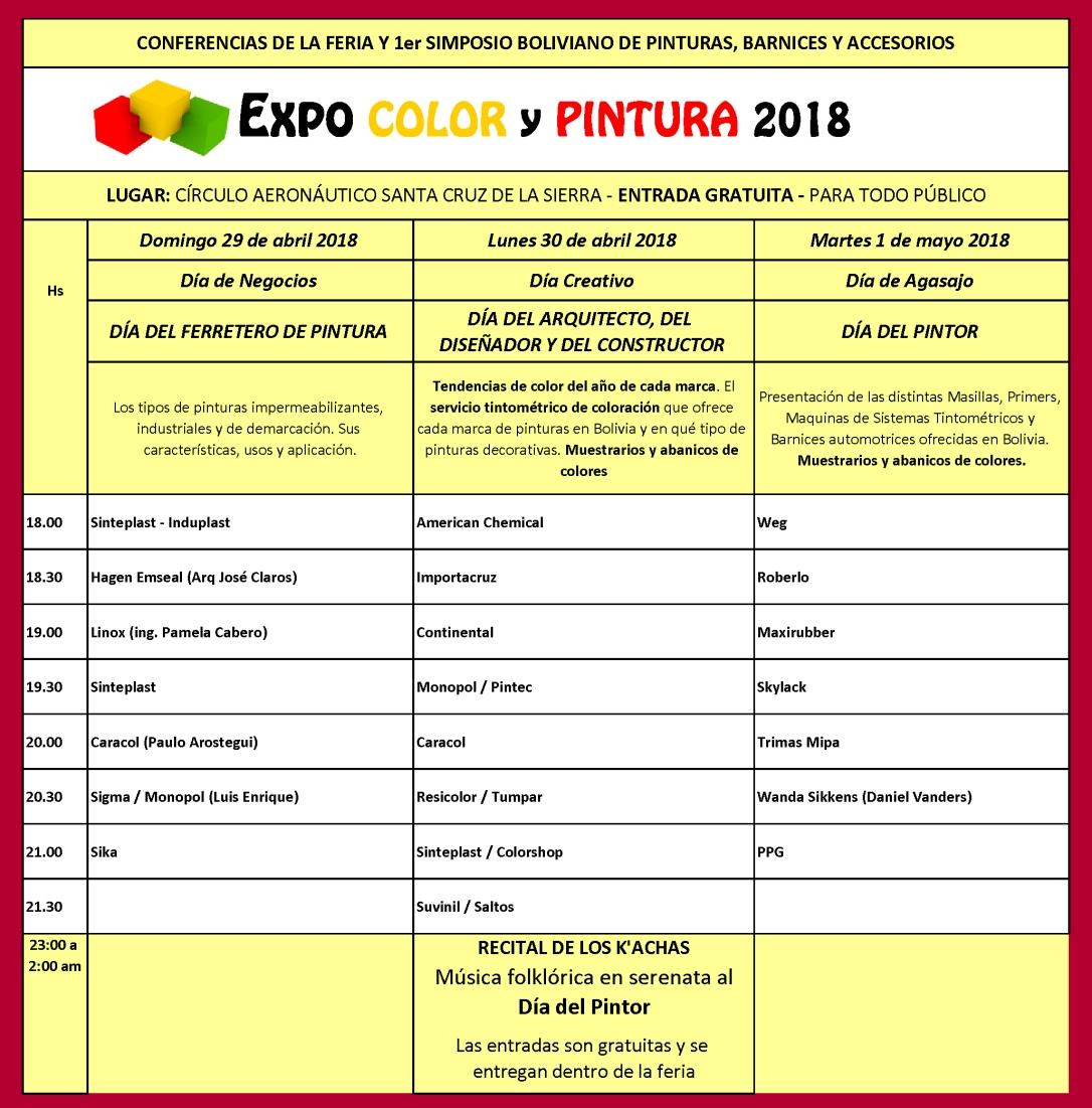 Ponentes CONFERENCIAS TÉCNICAS Y 1er SIMPOSIO BOLIVIANO DE PINTURAS, BARNICES Y ACESORIOS3DE3