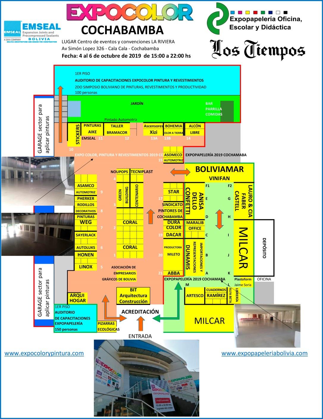 STANDS EXPO COLORYPINTURA y EXPOPAPELERIA COCHABAMBA