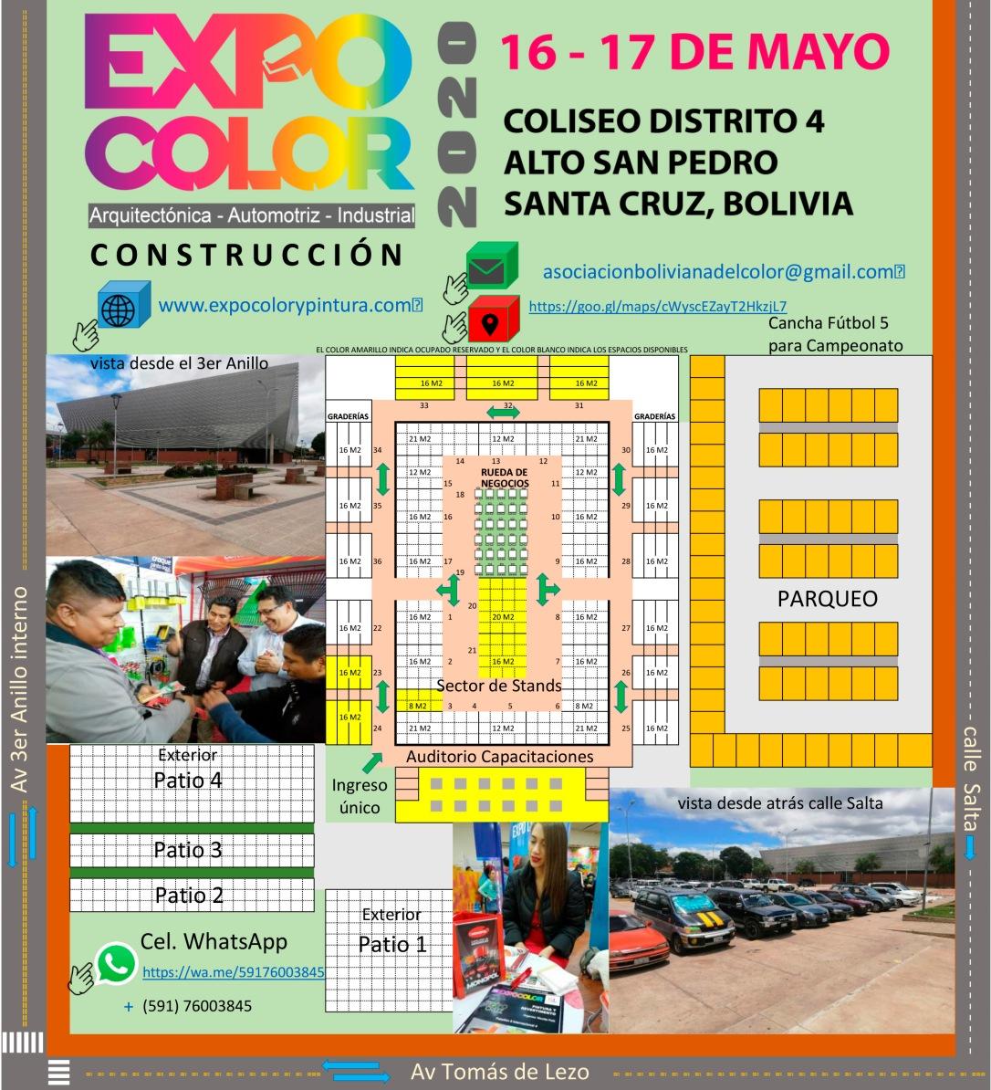 Plano stands Expocolor 2020 Santa Cruz